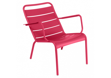 Fauteuil bas Luxembourg rose praline - FERMOB