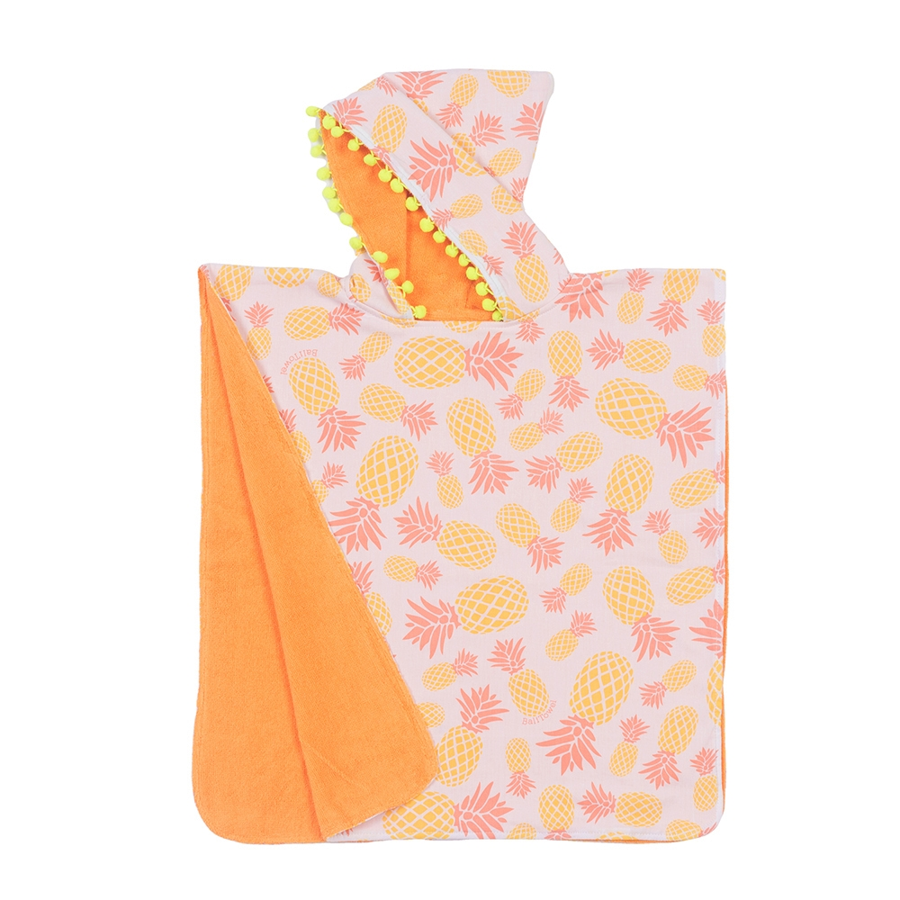 Poncho Pineapple Antique Corail - 0/4 ans - BALITOWEL