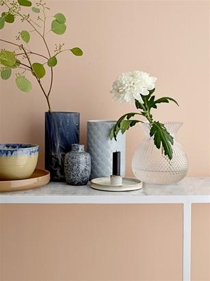 Vase en verre bleu - BLOOMINGVILLE