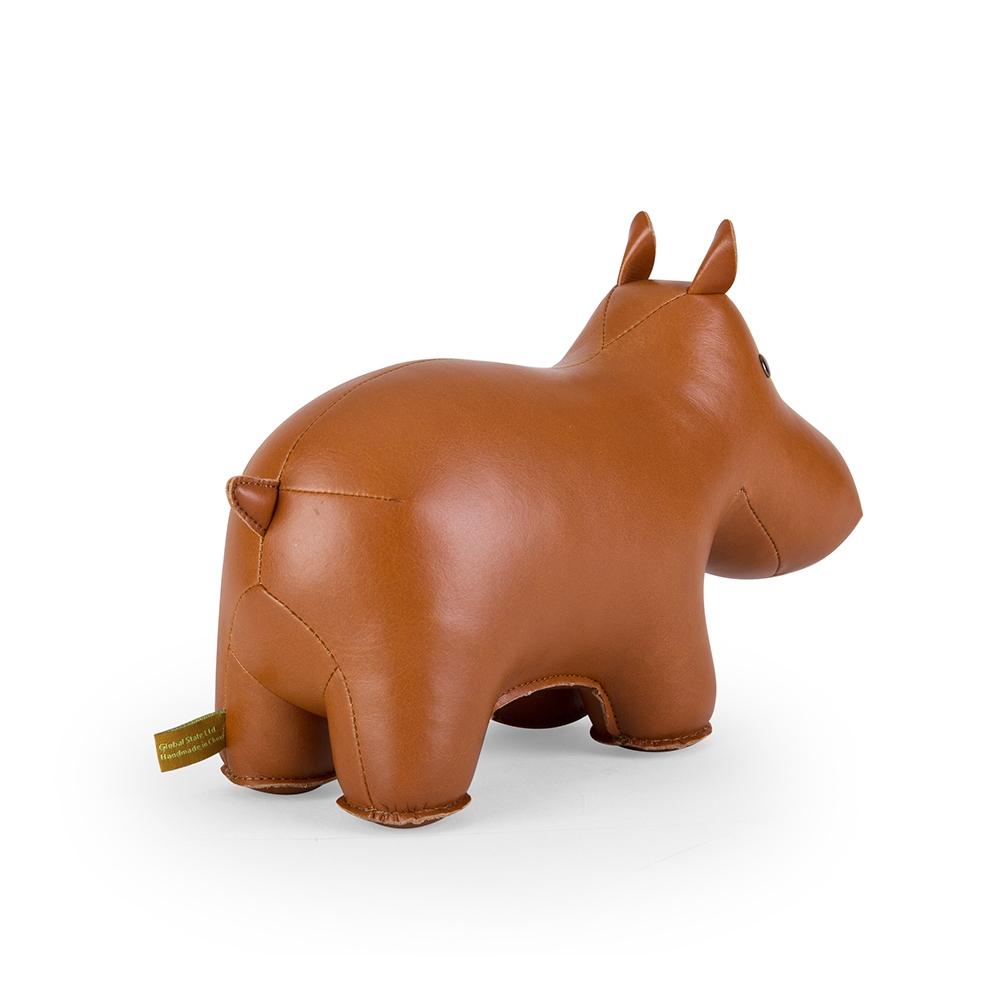 Serre Livres Hippopotame marron - ZUNY