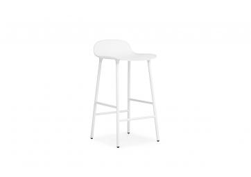 Tabouret Form 65cm blanc / Pieds acier - NORMANN COPENHAGEN