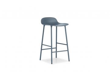 Tabouret Form 65cm bleu / Pieds acier - NORMANN COPENHAGEN