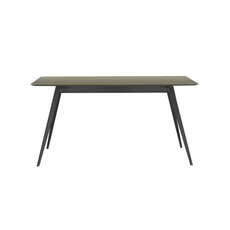 Table Aise - Pieds métal noir - TREKU