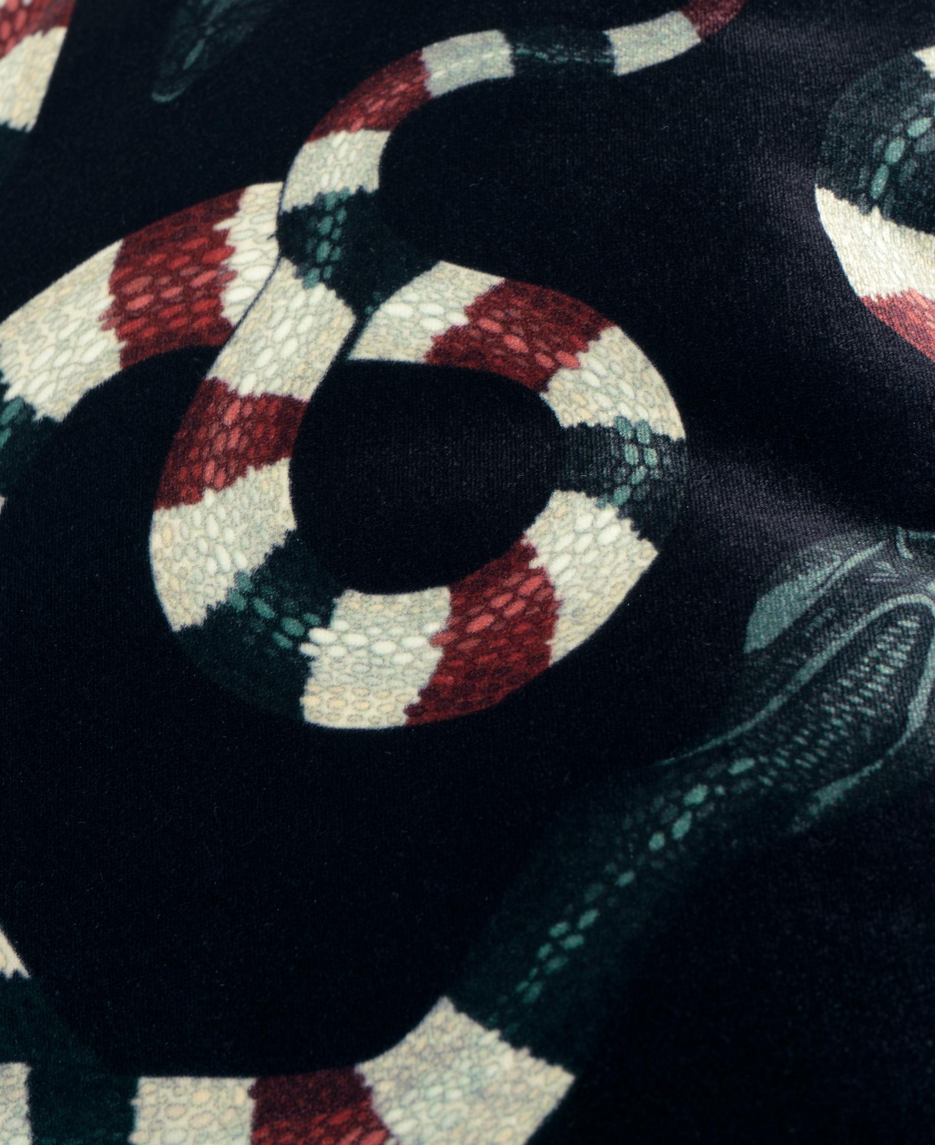 Coussin Snakes en velours - WOOUF