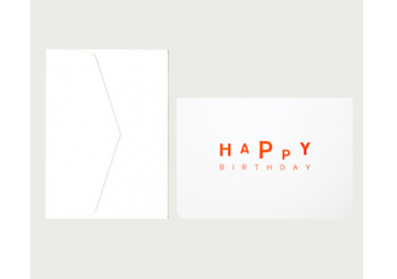 "Carte ""Happy Birthday"" - LE TYPOGRAPHE"