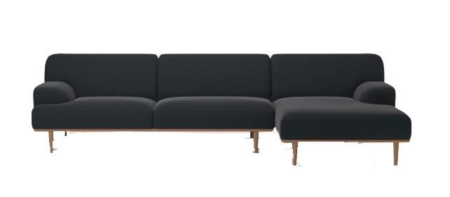 Canapé 3 places avec méridienne - BOLIA