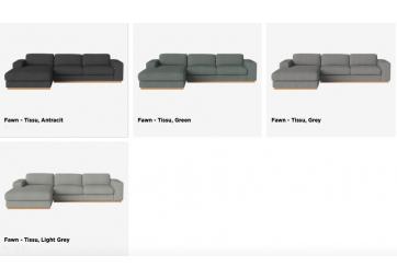 Canapé 3 places Sépia avec méridienne - Confort + - BOLIA