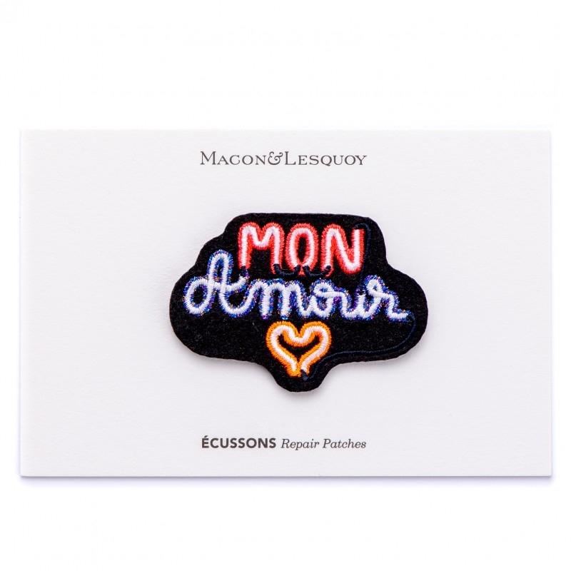 """Ecusson néon """"Mon amour"""" - MACON & LESQUOY"""