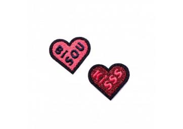 Duo écussons Bisou + Kiss - MACON & LESQUOY