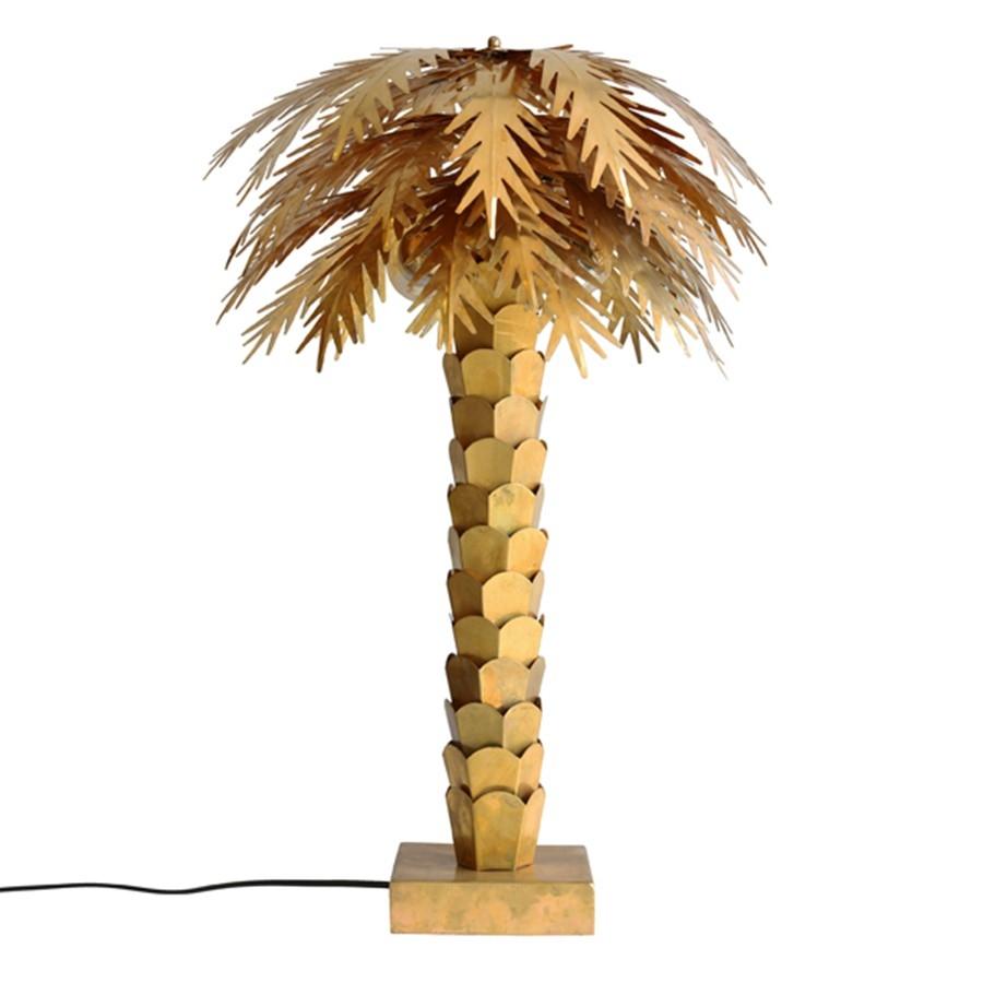 Lampe de table palmier en laiton - HK LIVING