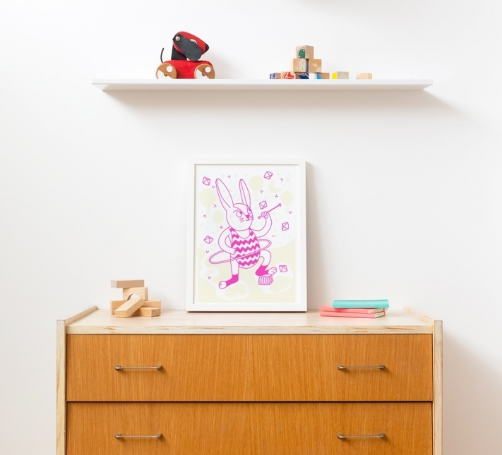 Poster phosphorescent lapin - OMY