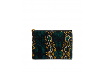 "Housse Snakeskin en velours Macbook 13"" - WOOUF"