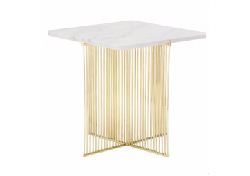 Table d'appoint Ellis en marbre blanc - BLOOMINGVILLE