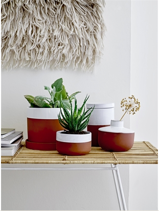 Pot de fleurs avec coupelle en céramique - BLOOMINGVILLE