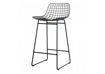 Tabouret de bar wire noir - HK LIVING