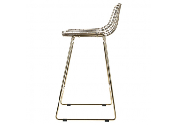 Tabouret de bar wire en laiton - HK LIVING