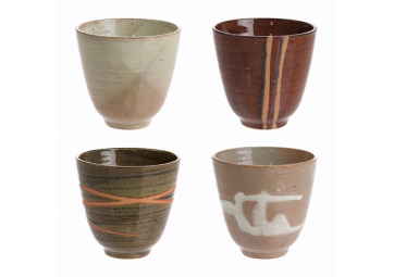 Lot de 4 mugs Yunomi en céramique - HK LIVING