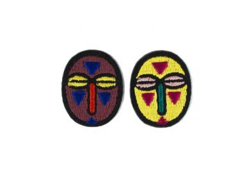 Lot de 2 écussons mini masques - MACON & LESQUOY