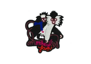 Ecusson Monkey Family - MACON & LESQUOY