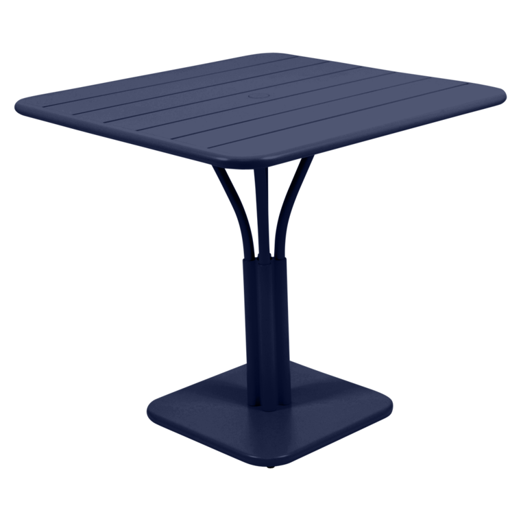 Table Luxembourg 80 x 80cm pied central - FERMOB