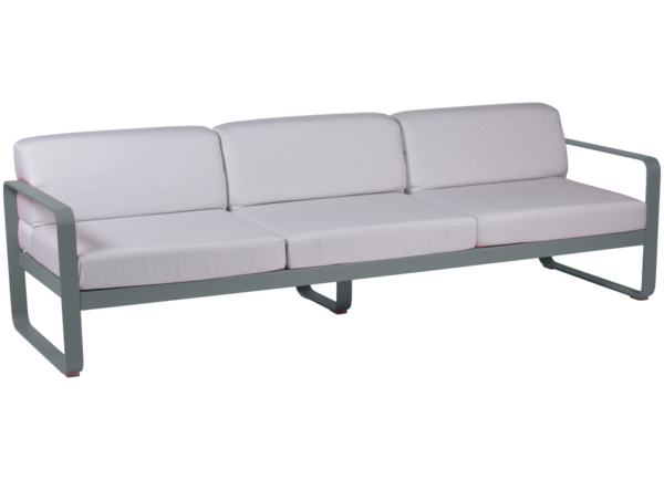 Canapé de jardin Bellevie 3 places avec coussin blanc - FERMOB