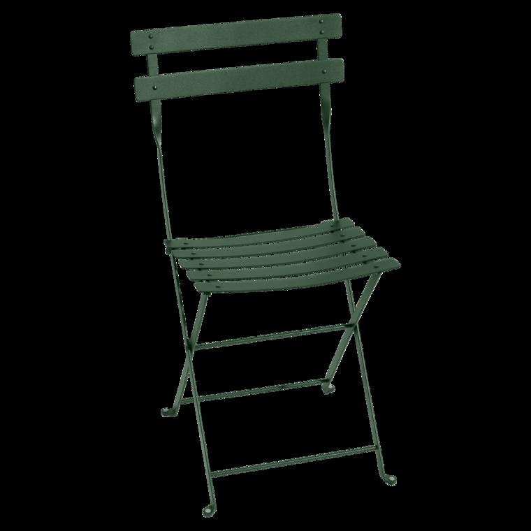 Chaise en métal Bistro bleu abysse - FERMOB