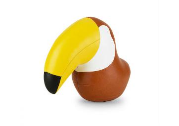 Serre-livre Toucan marron et jaune - ZUNY