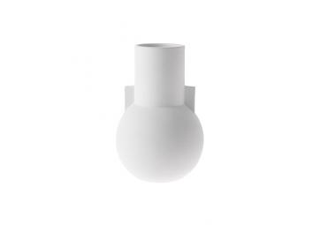 Vase matt white S