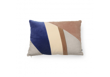 Coussin patch en velours multicolore