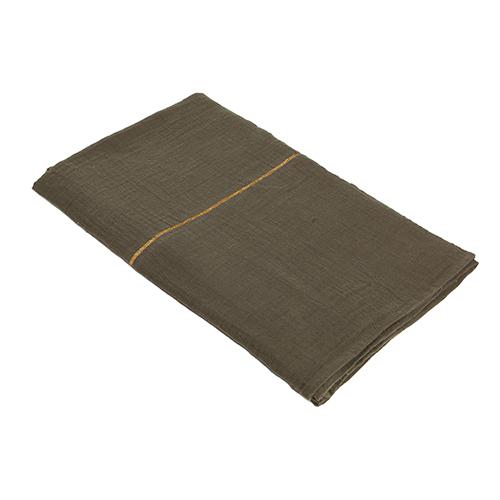 Jeté en coton bio vert Indochine - Mornings - 140x200cm