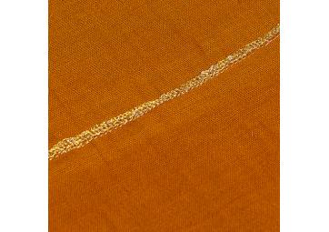 Jeté en coton bio gold - NOON - 140x200cm