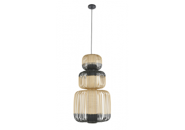 Suspension bamboo light 3 lights - FORESTIER