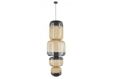 Suspension bamboo light 4 lights - FORESTIER