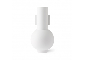 matt white vase L - HK LIVING