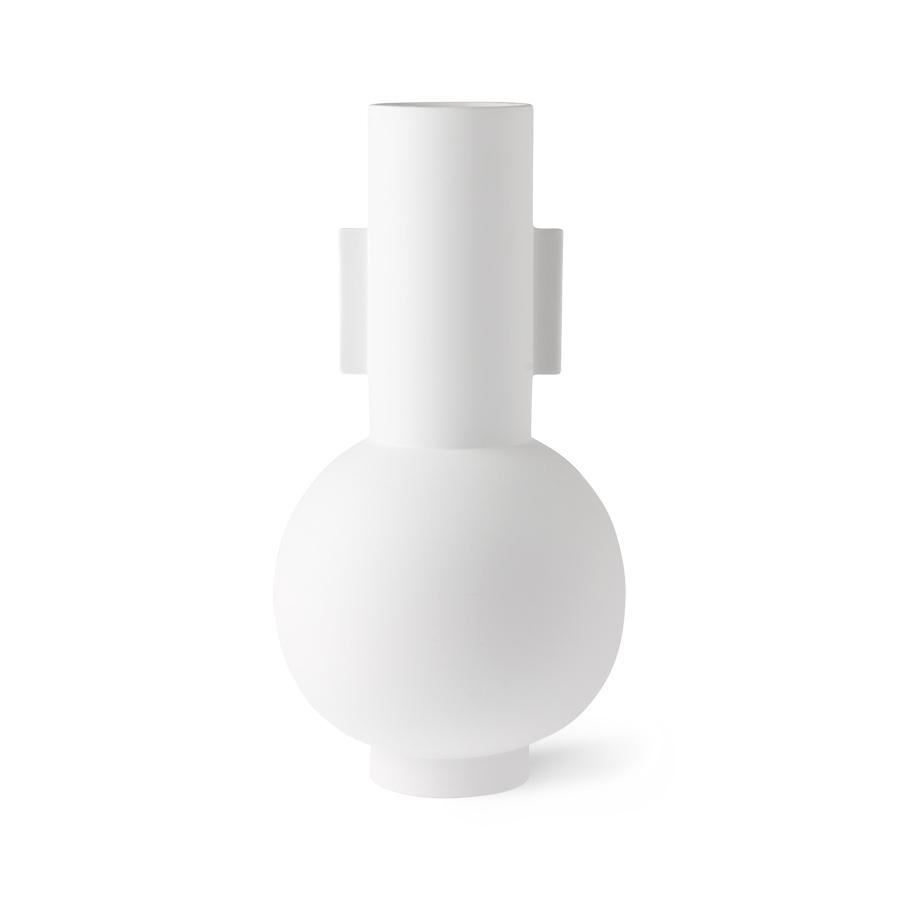 matt white vase L - HK LIVING