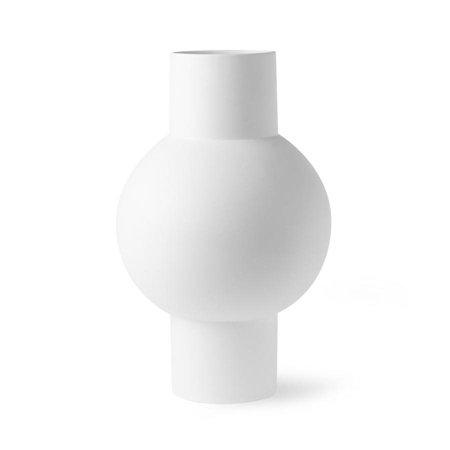 Vase White M - HK LIVING