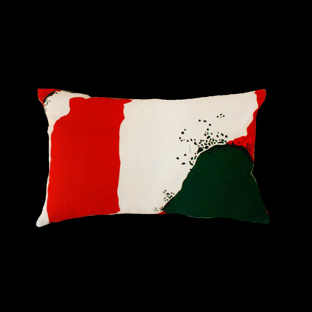 BROOME Rouge/Vert - Coussin 60x40 cm - ADJAMEE