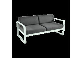 Canapé de jardin Bellevie 2 places avec coussin gris graphite - FERMOB
