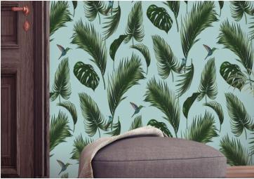 Papier peint Jungle Vert d'eau - PAPERMINT