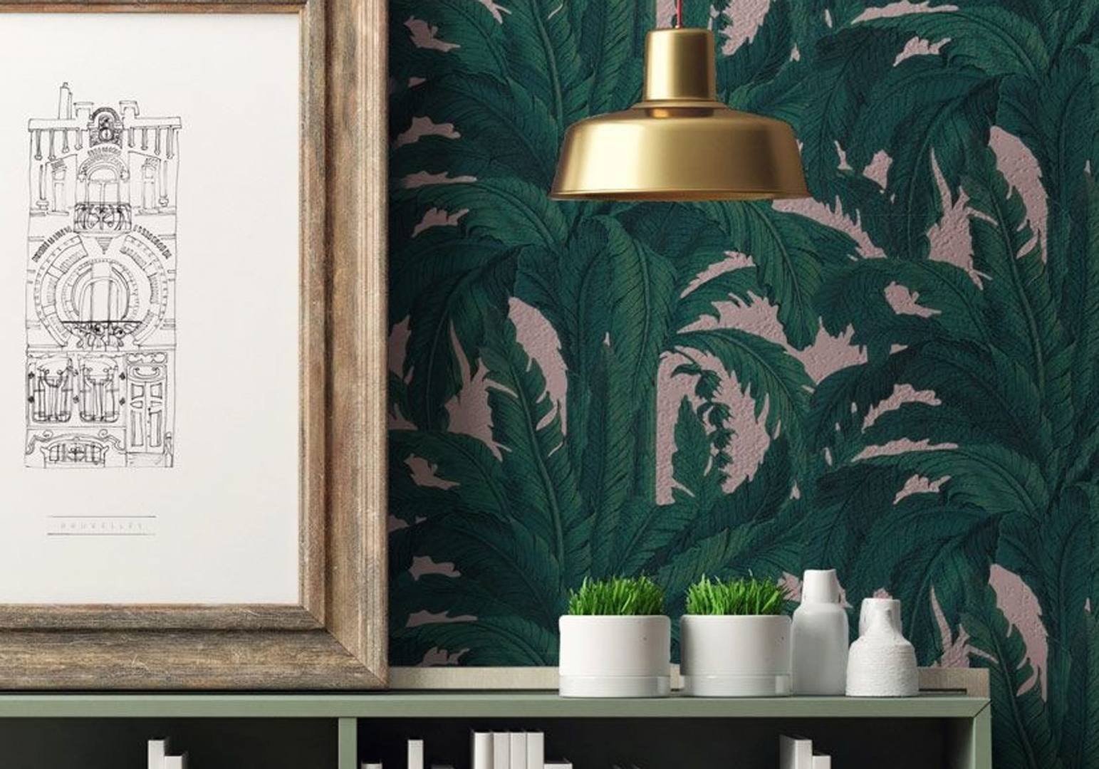 Rouleau de papier peint Musa - PAPERMINT