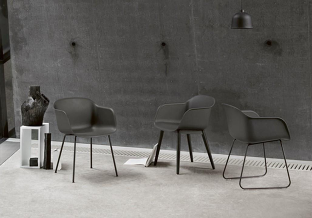 Fauteuil Fiber Chair - Piètement luge - MUUTO