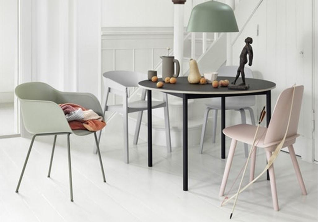 Fauteuil Fiber Chair - Piètement tubes - MUUTO