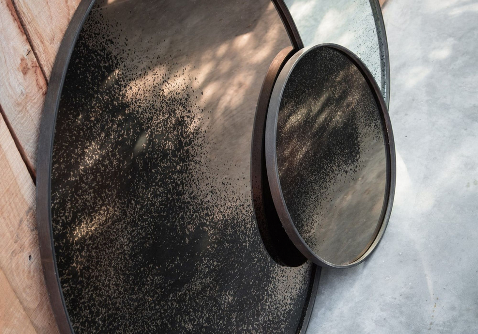 Miroir rond Bronze - ETHNICRAFT ACCESSOIRES