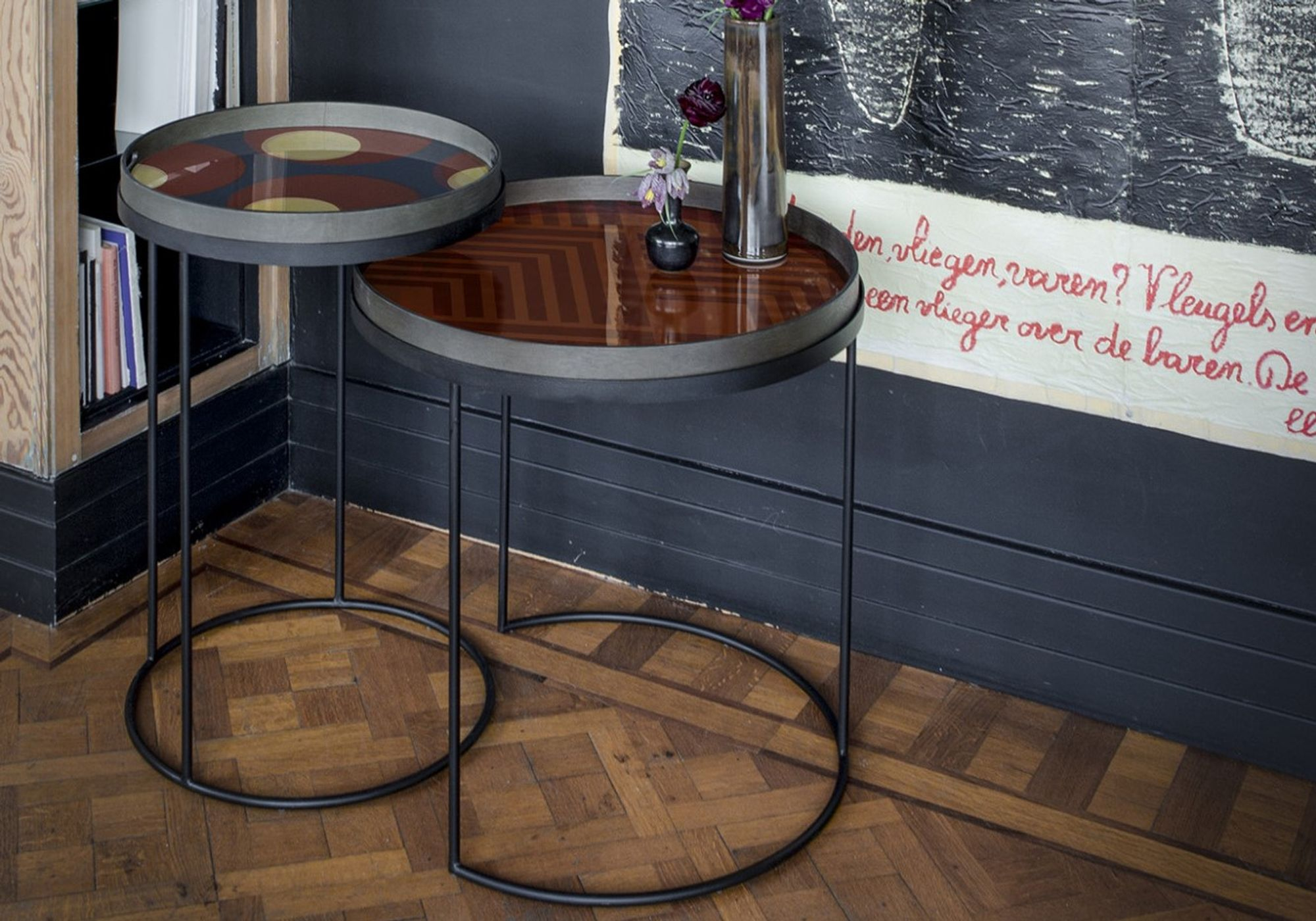 Set de Tables hautes Round Tray - NOTRE MONDE
