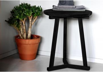 Bout de canapé Tripod chêne noir - ETHNICRAFT