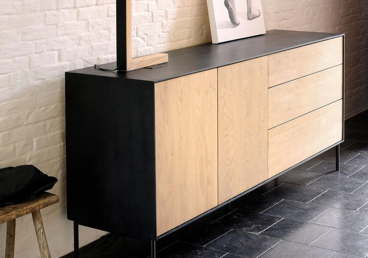 Buffet chêne Blackbird 2 portes/ 3tiroirs - ETHNICRAFT