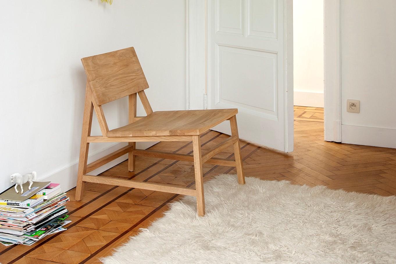 Chaise Lounge N2 en chêne - ETHNICRAFT