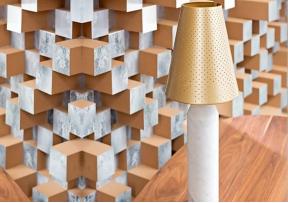 Lampe Vulcain marbre et laiton - LA CHANCE