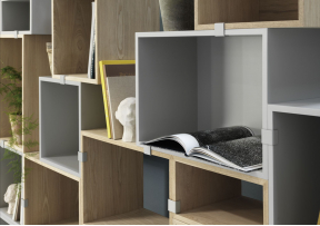 Stacked L 2.0 - Etagere avec fond - MUUTO