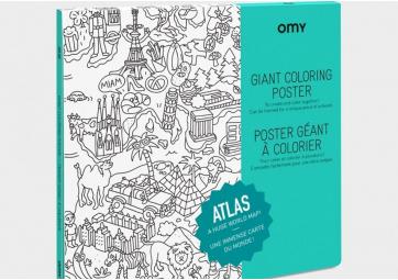 Atlas - Poster à colorier - OMY